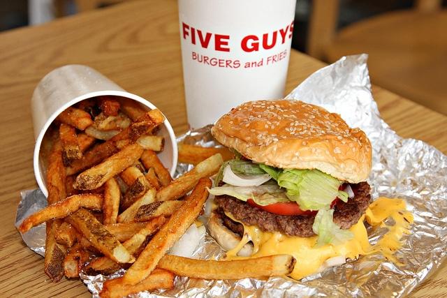 Five guys menu , florida food