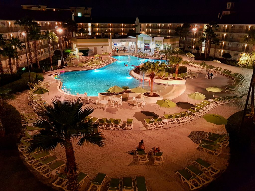 Avanti pool by night