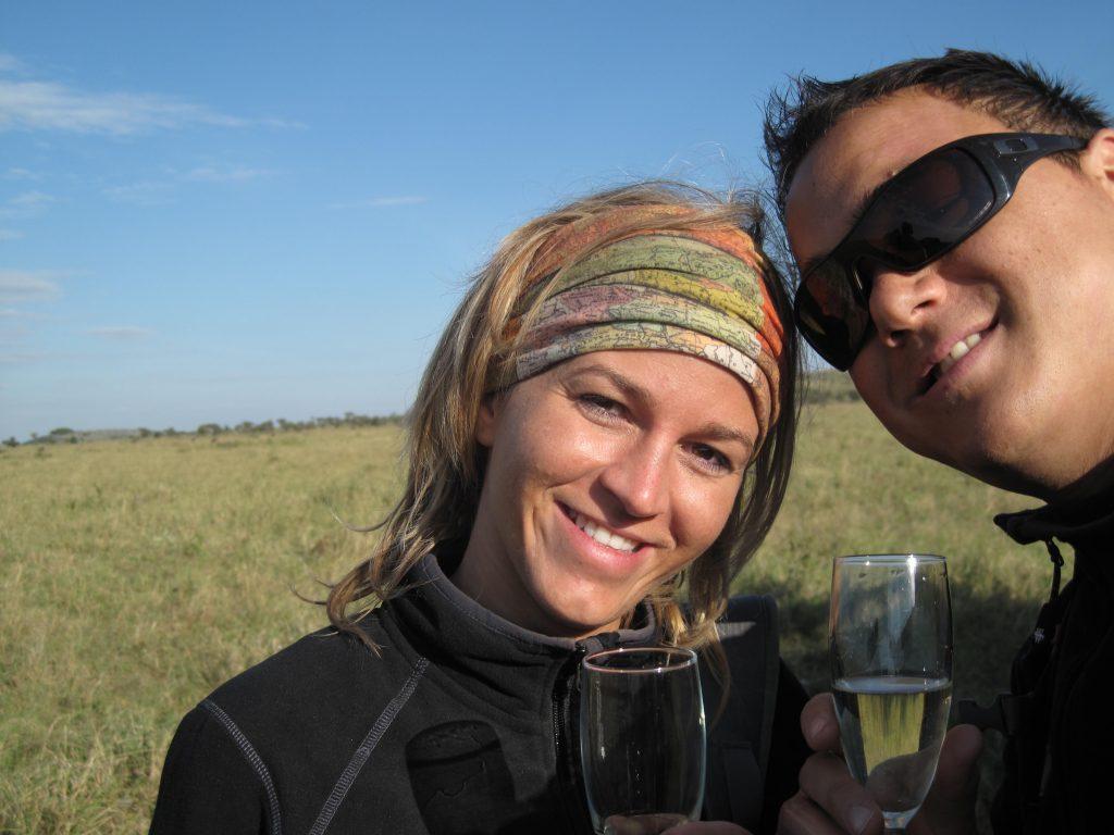 Ontspannen na een dagje safari