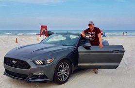 Mustang op Daytona beach