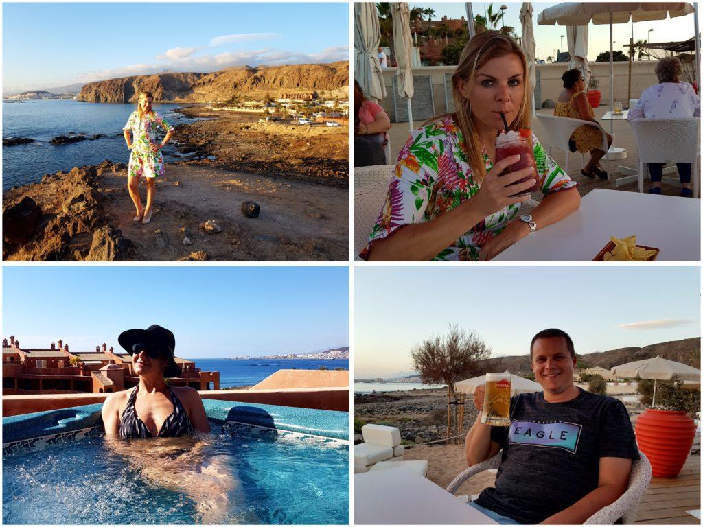 cocktails drinken op het strand