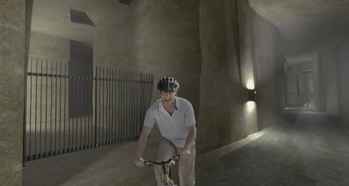 fietsen onder de grond