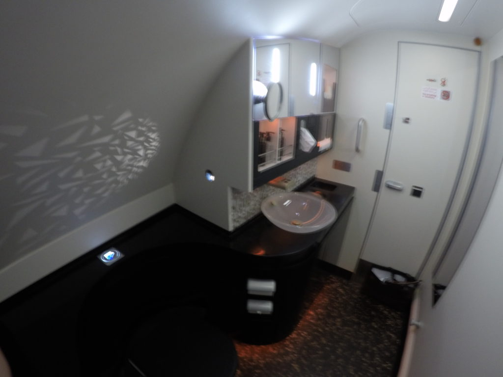 Etihad shower