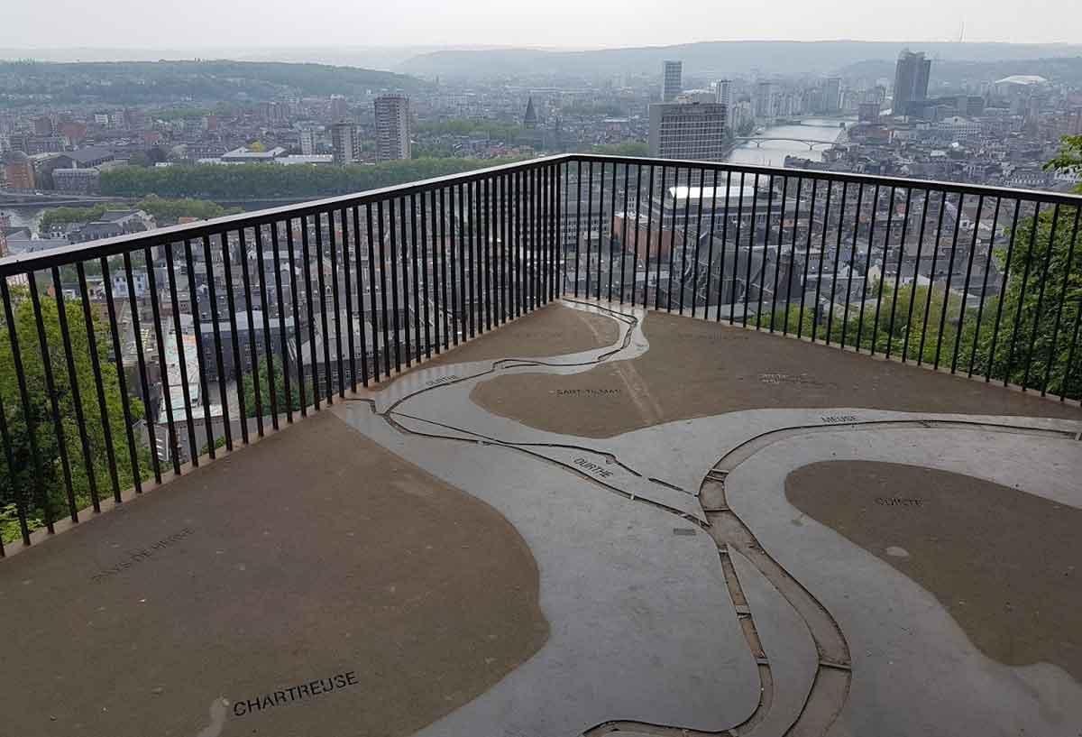 Luik citadelle uitzicht