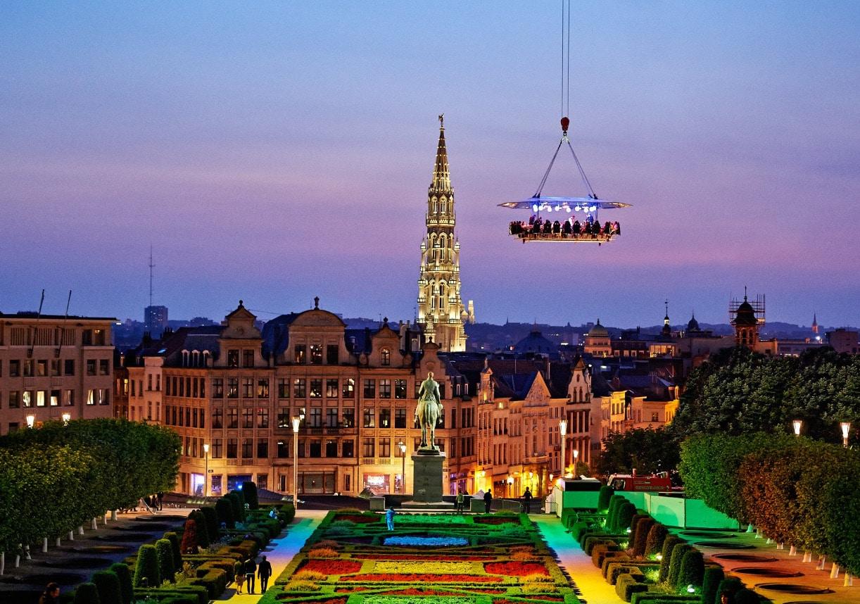 origineel dineren Brussels by night