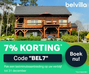 Belvilla korting banner