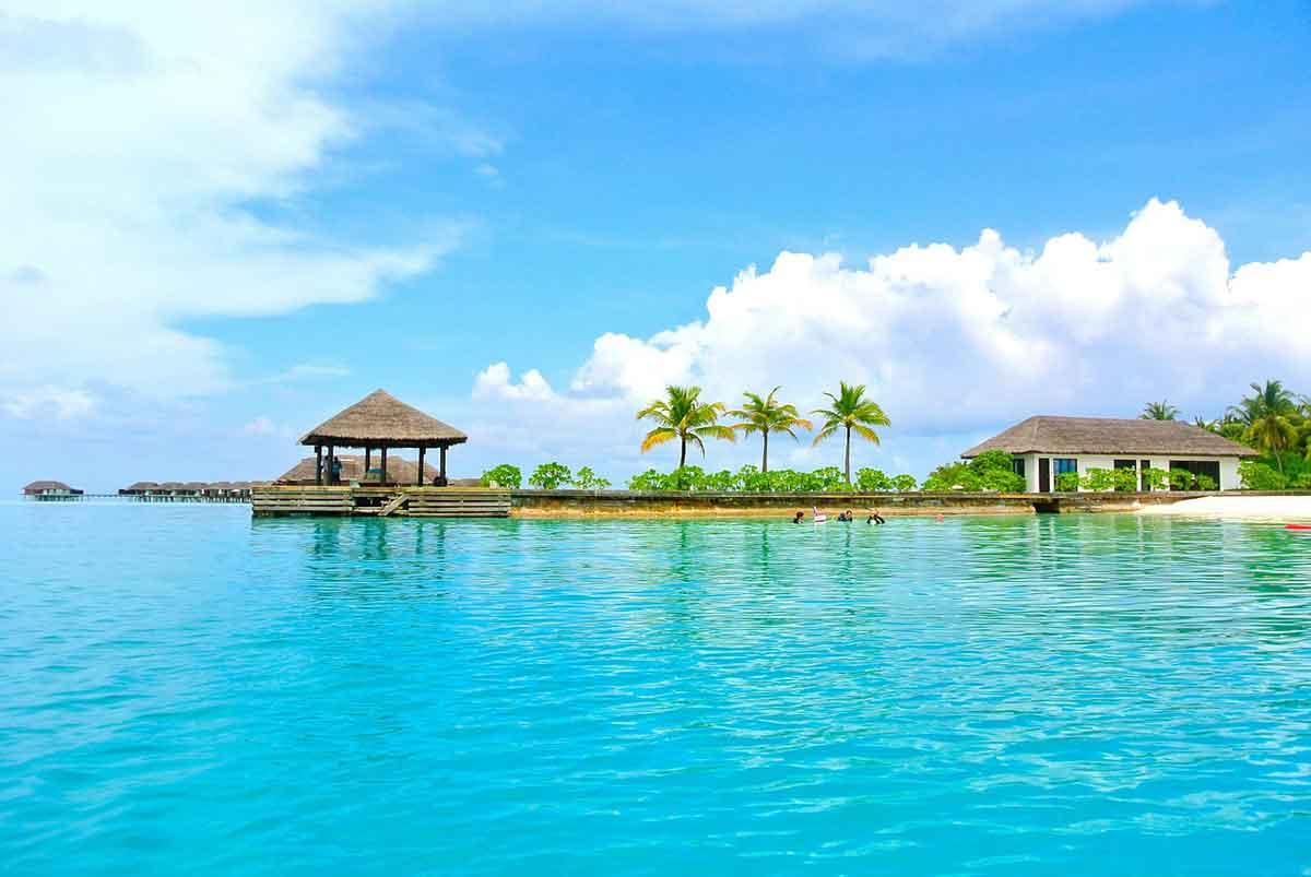 Prachtige zee op de Malediven