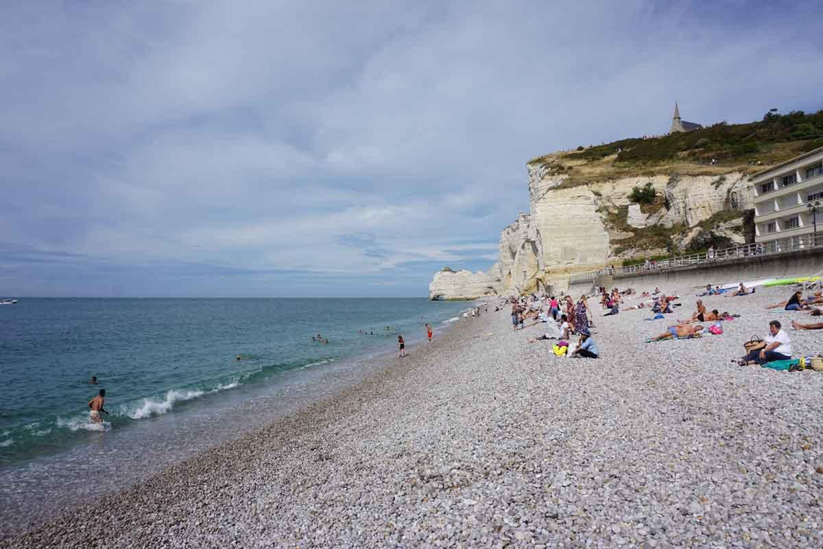 Bagnade strand Normandie