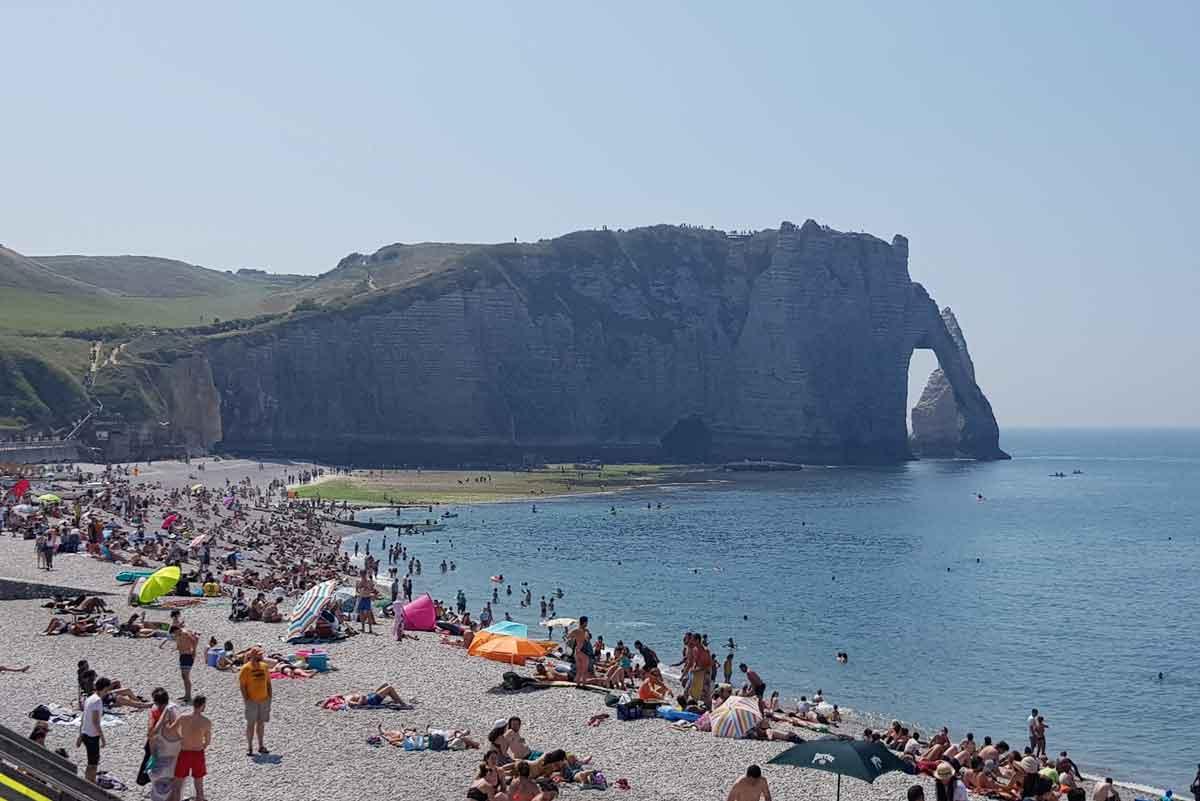 Strand van Etretat