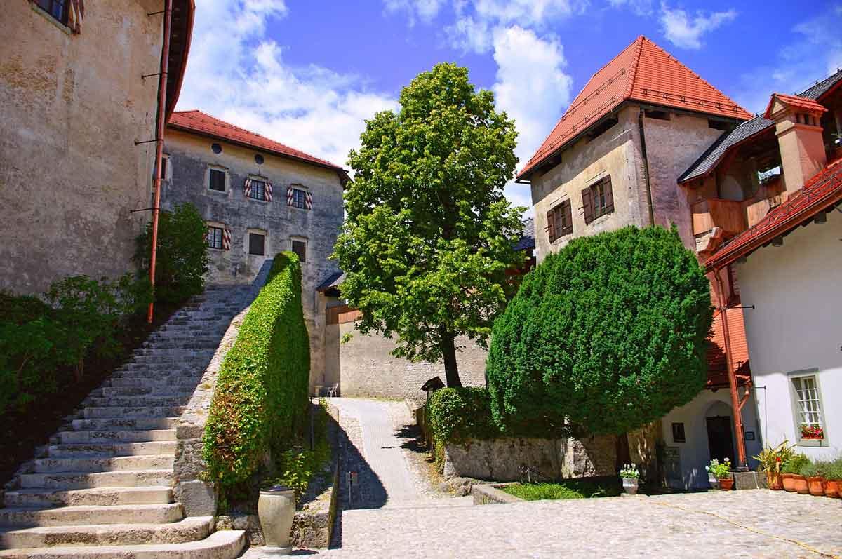 Bled dorp kasteel