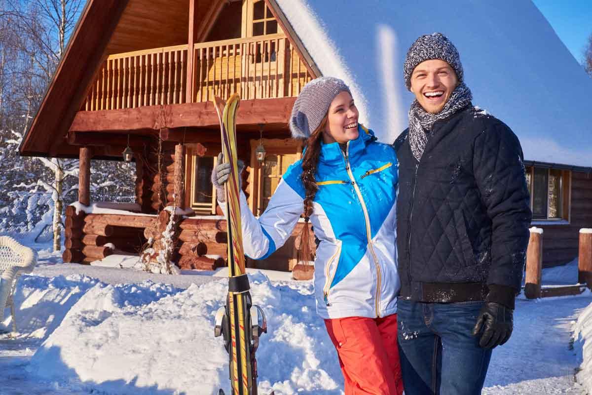 wintersport gelukkig