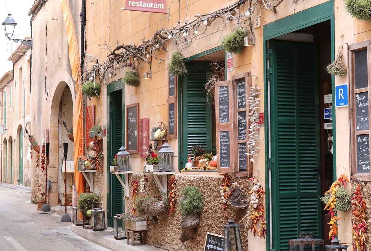 Mallorca winkels en restaurant