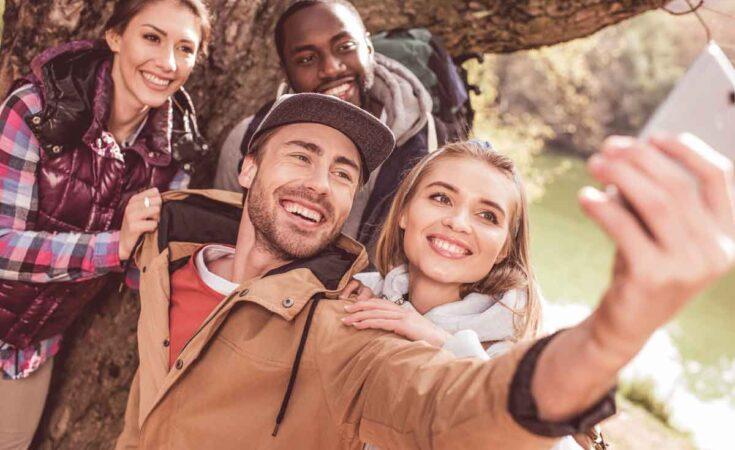 selfie tijdens wandelvakantie Ardennen